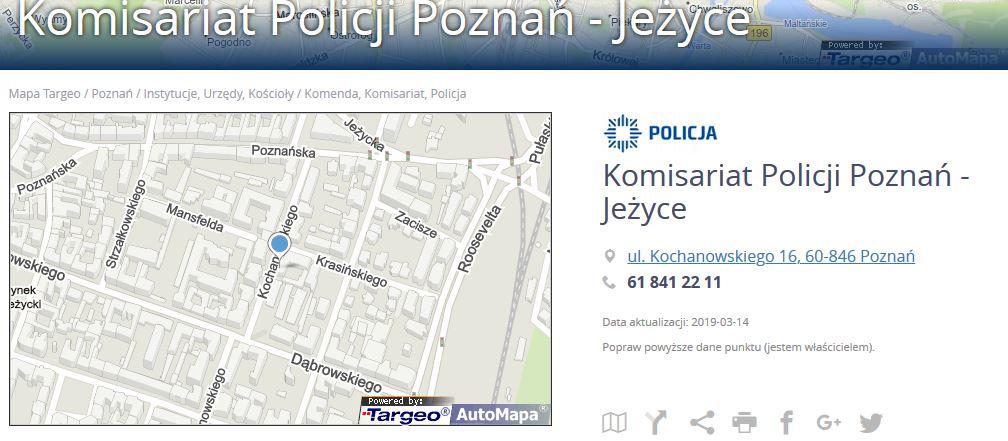 Komisariat Policji Poznan Jezyce Rada Osiedla Wola W Poznaniu
